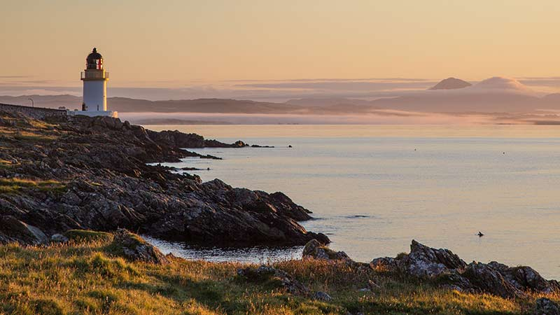 Loch Indaal Lighthouse and Paps of Jura