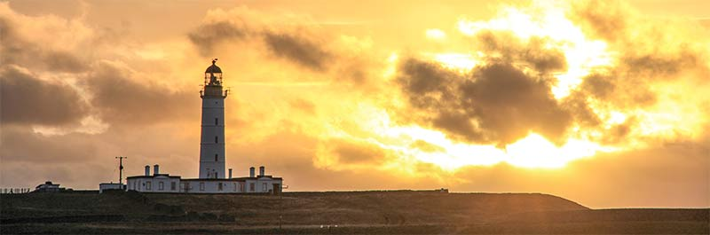 Rinns Lighthouse on Orsay Island south of Portnahaven