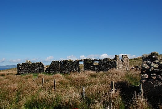 The ruined township of Grasdale close to Soldiers Rock