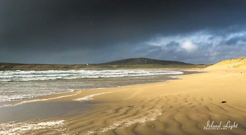 Dramatic Light Kilchoman Beach Islay in March