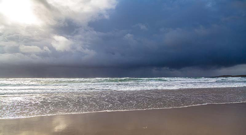 Threatening Sky over the Atlantic Ocean