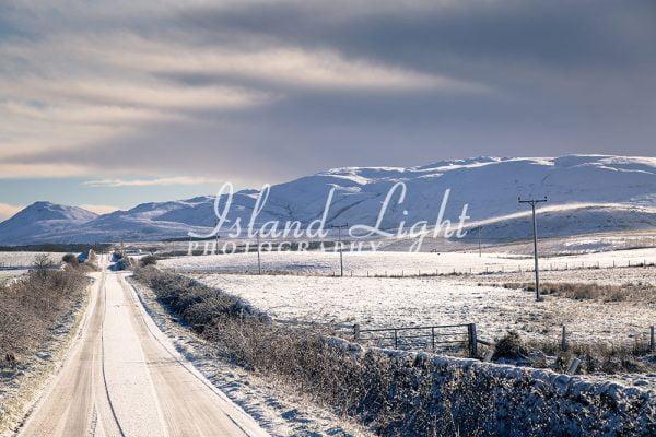 Cluanach Road in Winter