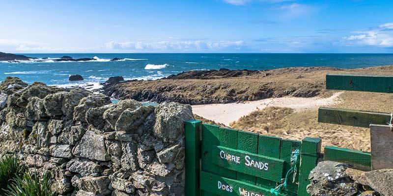Green Gate at Currie Sands Beach Islay
