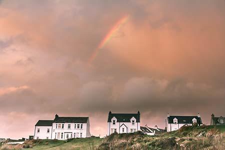 Rainbow over Port Wemyss Islay