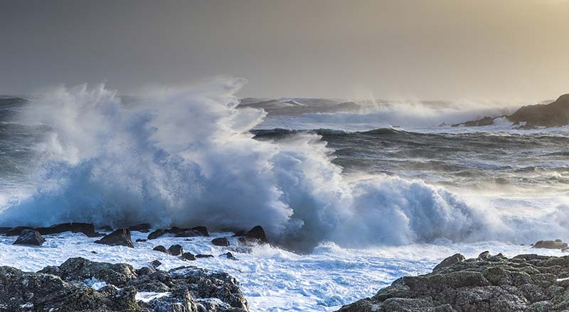 Stormy Seas seen from the Path of the Fishermen