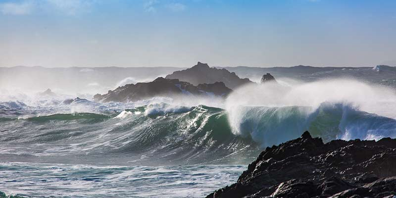 Wave Watching from the Currie Sands