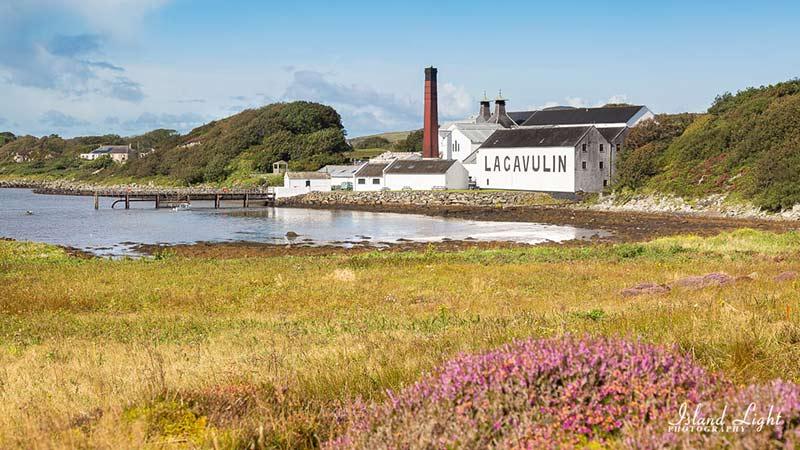 Lagavulin distillery from Dunyvaig Castle