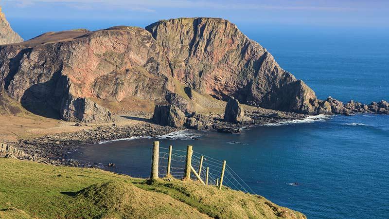 Cliffs on the Oa Peninsula