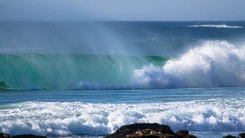Wave Action at Saligo Bay Islay